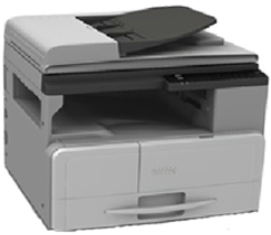 МФУ Ricoh SP 220SFNw (картридж 700стр.) (копир-принтер-сканер-факс ADF 23стр./мин. 1200x600dpi LAN WiFi NFC A4)